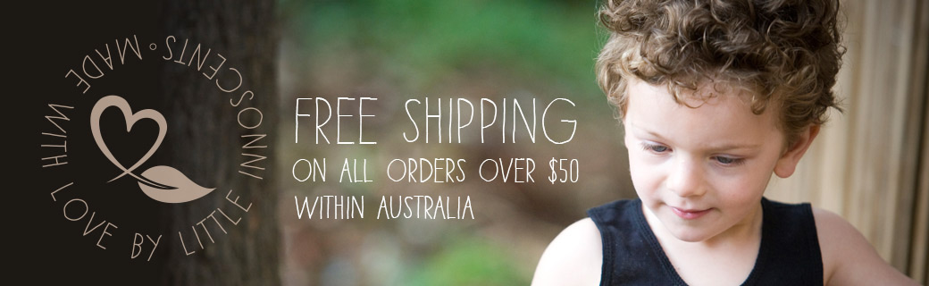 Free shipping within Australia for orders over $50