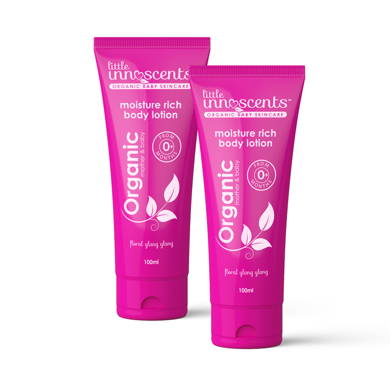 Organic mother and baby moisturising lotion
