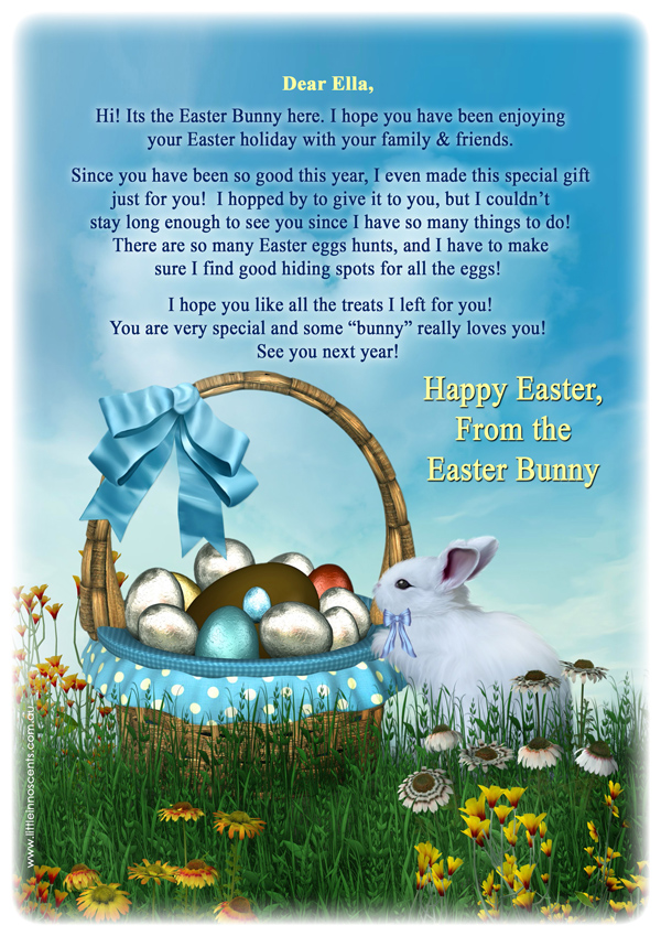 Free Easter Bunny Letters Printables