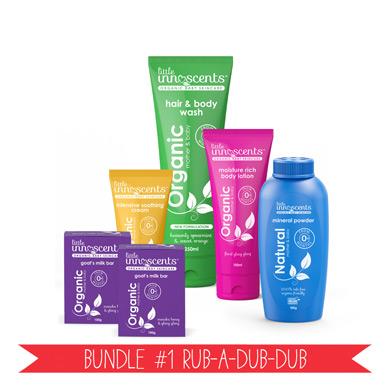 Organic Baby Skincare Bundle 1 Rub A Dub Dub