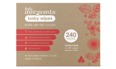 Little Innoscents Baby Wipes 3 Pack