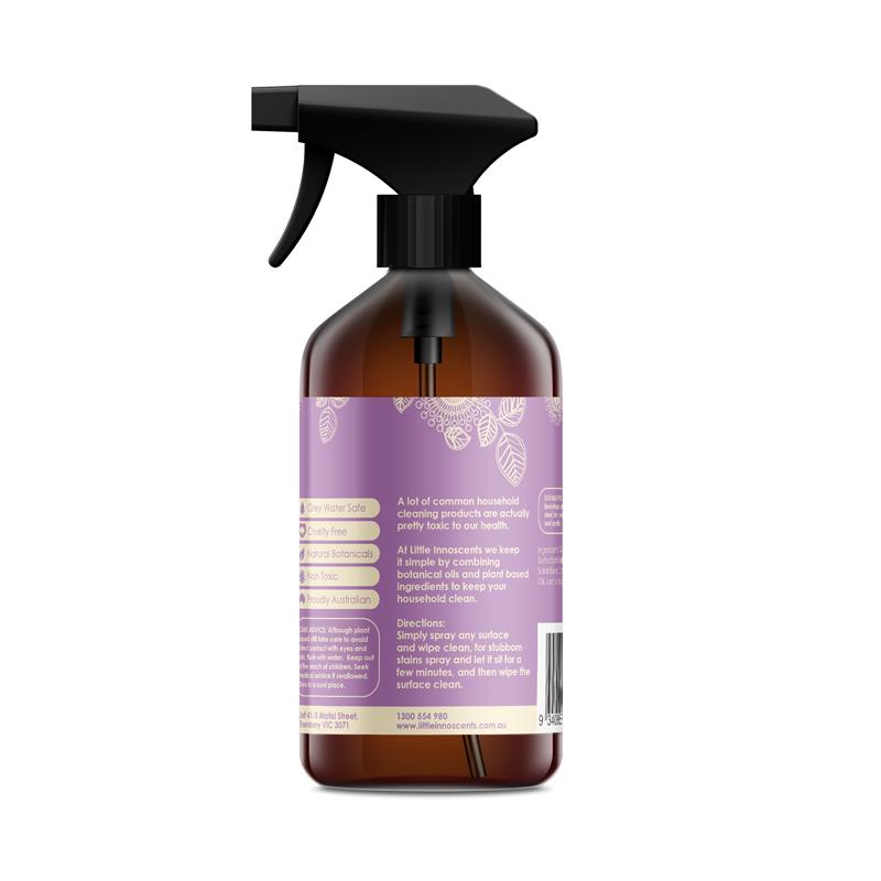 Multipurpose Cleaning Spray - Back of Bottle